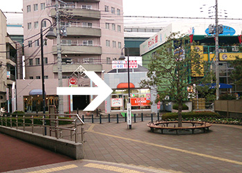 JR西浦和駅からさいたま歯科口腔外科までの道順その2